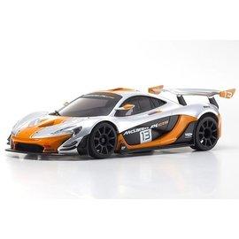 Kyosho KYOMZP235SO-B  McLaren P1 GTR Silver/Orange Body Set, for MR-03W-MM Chassis