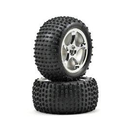 Traxxas TRA2470R Tracer Chrome Wheels 2.2 Bandit W/Alias Tires Rear (2)