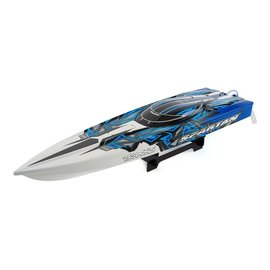 "Traxxas TRA57076-4  Blue Spartan Brushless 36"" Racing Boat RTR, w/ TQi 2.4GHz & TSM"