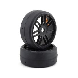 GRP Tyres GRPGTX02-S5  TO2 Slick Belted Pre-Mounted 1/8 Buggy Tires (Black) (2) (S5)