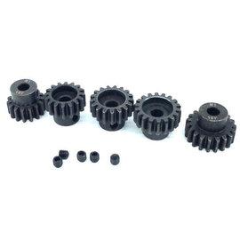 Surpass Hobby USA SP-011025-68 MOD 1 Hard Coated Alloy Steel Pinion Gear Set 18T-22T (5)