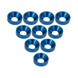 3-Racing 3RAC-WC3/BU Blue Aluminum M3 CSK Washers (10)