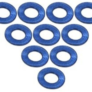 3-Racing 3RAC-WF305BU Blue Aluminum M3 Flat Washer 0.5mm (10)