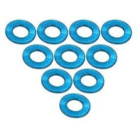 3-Racing 3RAC-WF305LB Light Blue Aluminum M3 Flat Washer 0.5mm (10)