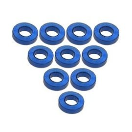 3-Racing 3RAC-WF315BU Blue Aluminum M3 Flat Washer 1.5mm (10)