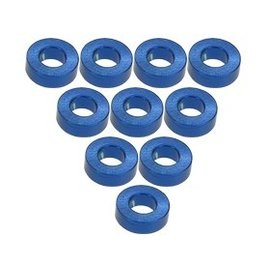 3-Racing 3RAC-WF320BU Blue Aluminum  M3 Flat Washer 2.0mm (10)
