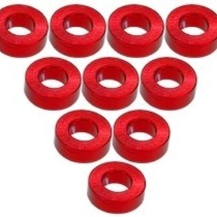 3-Racing 3RAC-WF320RE Red Aluminum M3 Flat Washer 2.0mm (10)