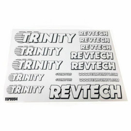 Trinity TEP9994 Trinity Revtech Sticker Sheet (2) White