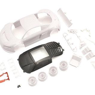 Kyosho KYOMZN195  Audi R8LMS Night-R White Body Set w/Wheel