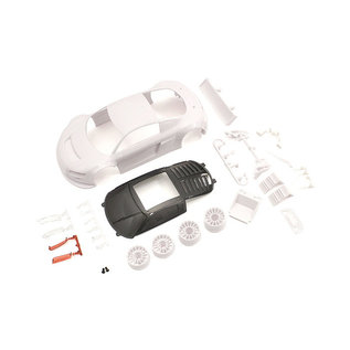 Kyosho KYOMZN195  Audi R8LMS Night-R White Body Set w/Wheel