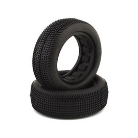 """J Concepts JCO3134-02 Sprinter 2.2"""" Green 2WD Front Buggy Dirt Oval Tires (2)"""