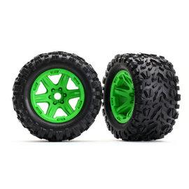 Traxxas TRA8672G  E-Revo VXL Talon EXT Tires & Green Wheels (2) (17mm splined)