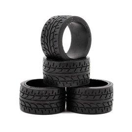 Kyosho MZW38-10  MiniZ Kyosho 11mm Wide Racing Radial Tire(4)(10 Shore)