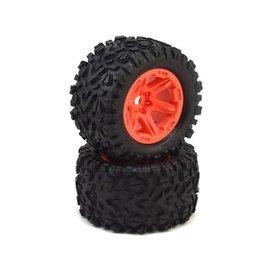 Traxxas TRA8672A  E-Revo VXL Talon EXT Tires & Orange Wheels (2) (17mm splined)