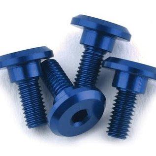 1UP Racing 1UP80212  1UP Racing 3x6mm Aluminum Servo Mounting Screws (Blue) (4)