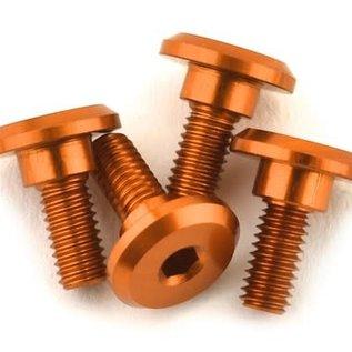 1UP Racing 1UP80252  1UP Racing 3x6mm Aluminum Servo Mounting Screws w/4.2mm Neck (Orange) (4)