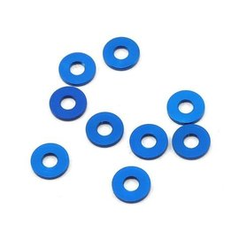 Team Associated ASC31385  Team Associated 7.8x1.0mm Aluminum Bulkhead Ball Stud Washer (Blue) (10)