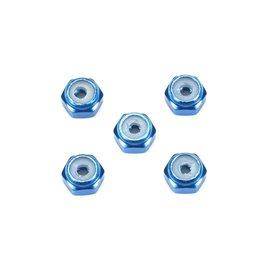 Tamiya TAM15500  JR 2mm Aluminum Lock Nut, Blue, 5pcs