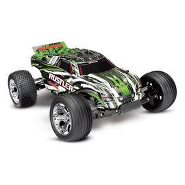 Traxxas TRA37054-4  Green Rustler Stadium Truck RTR without Battery/Charger