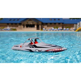 "Proboat PRB08045T1  Sprintjet 9"" Self-Righting Jet Boat Brushed RTR (Silver)"