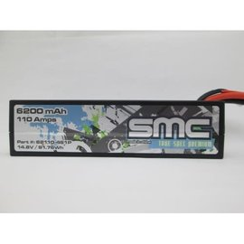 SMC SMC62110-4S1PXT90  True Spec 4S 14.8V 6200mAh 90C LCG LiPo w/ XT90