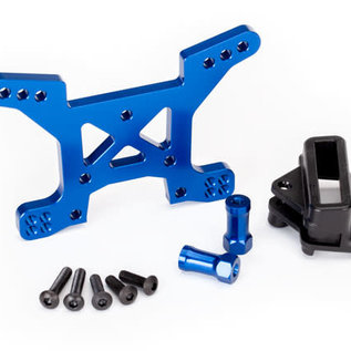 Traxxas TRA6739X  Rustler 4x4 Blue Anodized Front Shock Tower