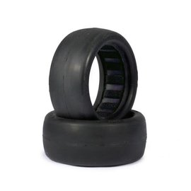 AKA Racing AKA13325CB  1:10 Buggy Evo Slicks 4wd Front (Clay) w/ Black Inserts (2)