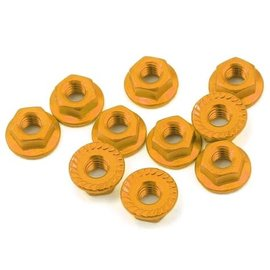 Yeah Racing YEA-LN-M4S-OR  Gold Aluminum 4mm Serrated Wheel Nuts (10)