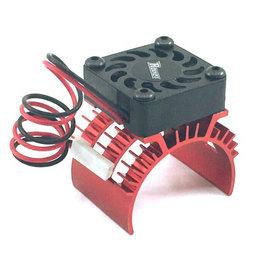 Surpass Hobby USA SP-100001-11 Rocket 1/10 Aluminum Brushless Motor Heatsink With 30mm Fan (Red)