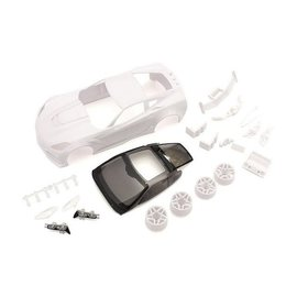 Kyosho MZN196  Mini-Z Corvette ZR1 White Body Set w/ Wheels