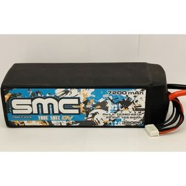 SMC SMC72380-6S1PEC5  True Spec 6S 22.2v 7200mAh 75C LiPo w/ EC5 Plug