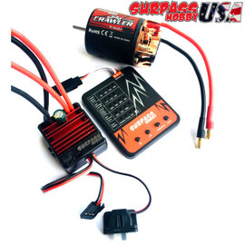 Surpass Hobby USA SP-054000-93C 5-Slot 20T Crawler Motor & ESC Combo with Program Card