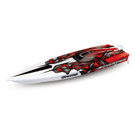 "Traxxas TRA57076-4  Red Spartan Brushless 36"" Racing Boat RTR, w/ TQi 2.4GHz & TSM"