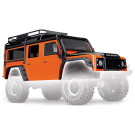 Traxxas TRA8011A  Land Rover Defender Adventure Orange Body w/ Cage & Accessories