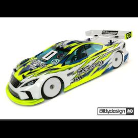 Bittydesign BDYTC-JP8ULT   Ultra Lite Weight 1/10 Touring Car Body (Clear) 190mm