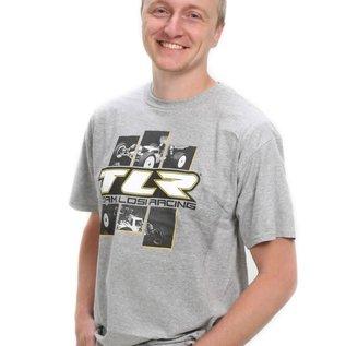 TLR / Team Losi TLR0508L  TLR 4.0 Grey T-Shirt Large