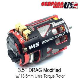 Surpass Hobby USA V4S-3.5D Rocket V4S 3.5T Drag Modified Sensored Brushless Motor Red/Black