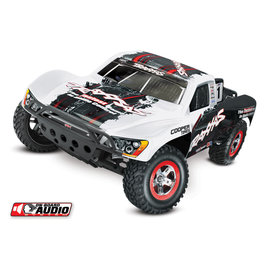 Traxxas TRA58034-2  White Slash 2WD RTR w/ On Board Audio, Radio, iD Battery and Charger