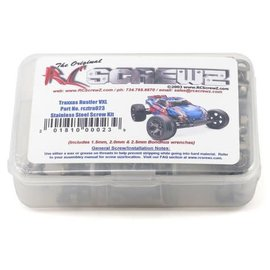 RC SCREWZ RCZTRA023  RC Screwz Traxxas Rustler VXL Stainless Steel Screw Set