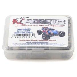 RCZTRA023  RC Screwz Traxxas Rustler VXL Stainless Steel Screw Set