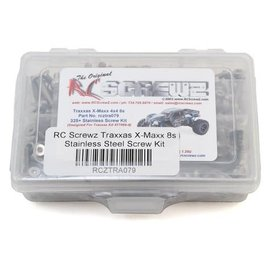RC SCREWZ RCZTRA079  RC Screwz Traxxas X-Maxx 8S Stainless Steel Screw Kit