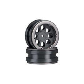 Axial Racing AX8087  Axial 8-Hole 1.9 Beadlock Wheel Black  AXIC8087