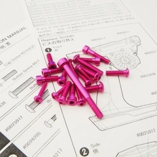 Hiro Seiko 48520  Hiro Seiko M17 Light Weight Screw Set (Pink)