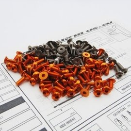 Hiro Seiko 48191  Titanium Aluminum Hex Socket Screw Set For Xray X12 '18