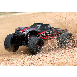 Traxxas TRA89076-4 Red 1:10 Maxx Monster Truck RTR without Battery & Charger