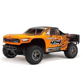 Arrma ARA102721T2  Orange/Black 1/10 SENTON 3S BLX 4WD Brushless Short Course Truck RTR