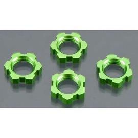 Traxxas TRA5353A  Green Anodized 17mm Splined Wheel Nuts  (4)
