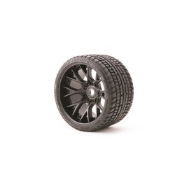 SWEEP C1001B  Black Road Crusher Monster Truck 17mm Belted Tire (2)