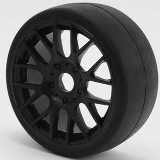 SWEEP 40145E414  1:8th GT Belted Slick EXP 45deg Soft On Black EVO16 Spoke Rim (2)