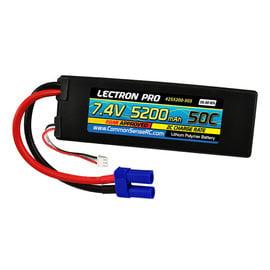 Lectron Pro 2S5200-505  Lectron Pro 2S 7.4v 5200mAh 50C LiPo w/ EC5 Plug